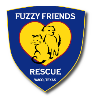 Fuzzy Friends Rescue logo with drop shadow